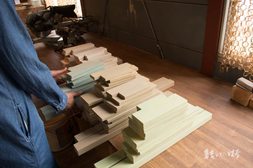木製スツールづくり