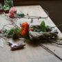 12月のお正月飾りレッスン - 素敵なお飾りと寄せ植え作品が完成!